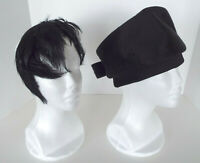 Vintage Helios Hat by Lora Made in Italy Feather Headband Black Art Deco Lot