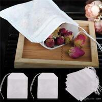 100x Empty Tea Bags String Heat Seal Filter Paper Herb Loose Teabags US Seller
