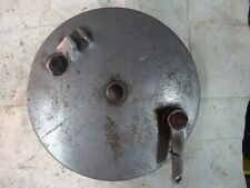 "BSA Triumph Used Genuine Front Wheel Brake Plate For 8"" Brake Drum"