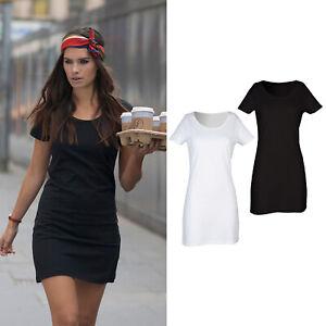 SF Women's T-Shirt Dress (SK257) - Casual Short Sleeved Long Top