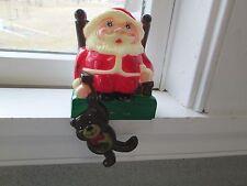 Sun Hill Industries 1985 Santa Shelf Sitter Stocking Holder Christmas Plastic