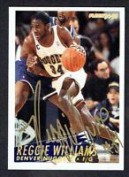 Reggie Williams #63 signed autograph auto 1994-95 Fleer Basketball Trading Card