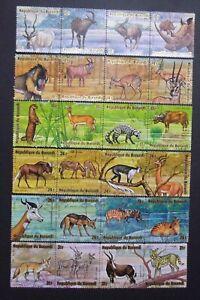 Burundi 1975 Scott C218 at C223, Wild Animals  UH original gum