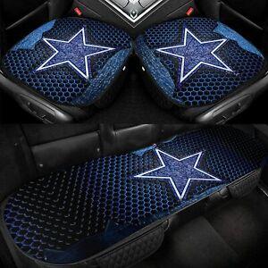 Dallas Cowboys Car Front Rear Seat Covers Protector Pad Mat Auto Chair Cushion