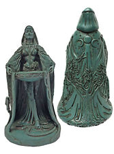 CELTIC IRISH MOTHER GODDESS DANU DON Maxine Miller Abundance Statue Green #10886