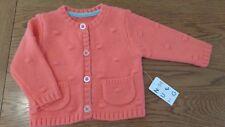 BNWT baby girl orange Nutmeg cardigan. 3-6 mths.    (1/9)