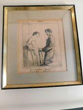 Antique Lithograph Print Fariboles Paris 19th Century Framed