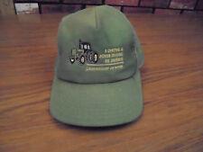 Vintage JOHN DEERE 70s or 80s Green  Mesh Trucker Hat Cap Made USA