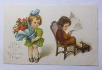 Geburtstag, Kinder, Mode, Blumen,  1930 ♥ (59472)