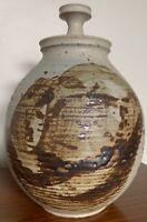 Vintage Stoneware Vase Jug Vessel Urn Mid Century Modern Studio Pottery Deyoe F