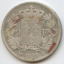 Louis XVIII (1814-1824) 2 Francs 1821 A Paris