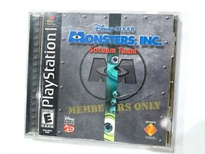 Monsters Inc Scream Team (Sony Playstation 1) PS1 Game Complete CIB Black Label