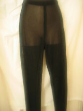 LES COPAINS~BLACK~SHEER KNIT PANTS