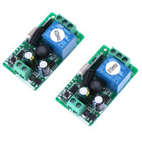 220V 1 Channel Wireless Relay RF Remote Control Switch  Receiver 315/433MHZ U_X