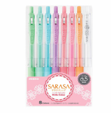 Zebra SARASA CLIP 0.5mm Ballpoint Pen, 8 Color Set (JJ15-8C-MK )  x3015