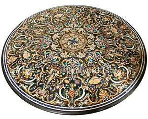 """Marble Dining Table Top Inlay Floral Pattern Sofa table from Cottage Crafts 96"""""""