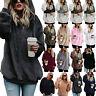Women Fluffy Fleece Hoodies Coat Long Sleeve Hooded Sweater Jumper Pullover Tops