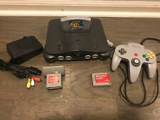 Nintendo 64 Console N64 Tested All Wires 1 Controller 1 Ms PAC Man Memory Tremor