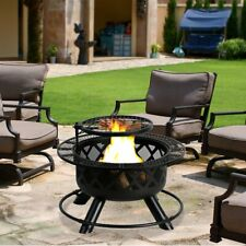 """32"""" Crossfire Fire Pit Removable Cooking Grill Fire Pit Outdoors Campfire Grill"""