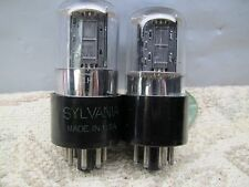 SYLVANIA 6SN7 GT  Well-Balanced Triodes Gm & Ip  PLATINUM MATCHED PAIR