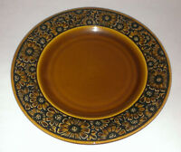 IRONSTONE DAISY Pattern Stoneware  SALAD PLATE MULTIPLE AVAIL dish Brown Flowers
