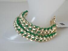 Gap Green Ribbon Gold Box link Friendship bracelets Set of 2 NWT $17.95