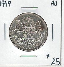 Canada 1949 Silver 50 Cents AU