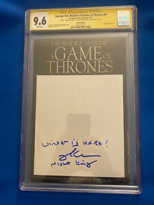 Game of Thrones #6 Blank Cover CGC 9.6 SS Signed By Richard Brake (Night King)