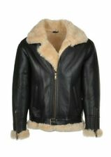 New Men's Genuine sheepskin Shearling mens fashion Leather jacket