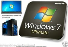 Produkt Key für MS Windows 7 Ultimate 32/64 Bit Laptop PC Computer 1 PC
