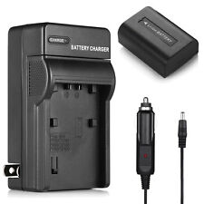 Battery +Charger For Sony NP-FH50 NP-FH40 NP- FH30 A230 A330 A380 DSC-HX1 HX100V
