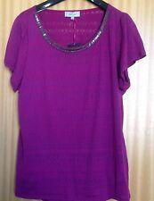 Ladies sz 18 Per Una Stunning 2 Piece BRT Violet Top with Camisole BNWT