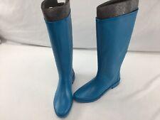 Stuart Weitzman Griffin Oceanic Rubber Knee High Rainboots Size 9M  H2106/