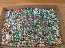 HUGE 24 LB Lot of Assorted Craft Beads Pearls Crystal Faceted Starflake Rondelle