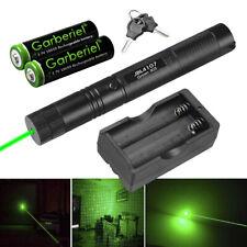 Tactica 532nm 303 Green Laser Pointer Lazer Pen Zoom Visible Beam Light+2x 18650