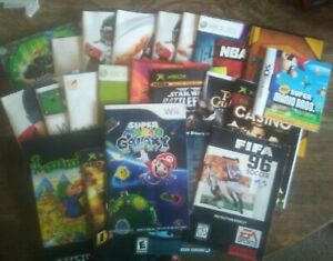 Lot of 22 video game Instruction Manual Booklets - Nintendo - DS - WII - XBOX...