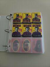 Batman Trading Cards Topps 1989 vintage in sleeves & Binder Joker💥💥💥💥💥💥🤪