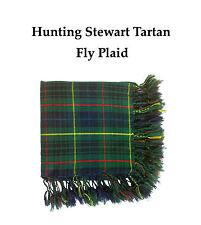 KILT MOUCHE Plaid chasse motif tartan écossais rouge/CHASSE Stewart 122cmx122cm