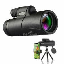 10x42 Zoom Optical HD Monocular Telescope Camera Lens + Tripod +Clip for Outdoor