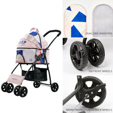 New ListingPre-owned Used 4 Wheels Pet Stroller Portable Foldable Cat Dog Carrier Cart Cage