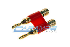 DUAL GOLD PLATED SPEAKER/SUB TERMINAL BANANA PLUG JACK UP TO 8 GAUGE WIRE