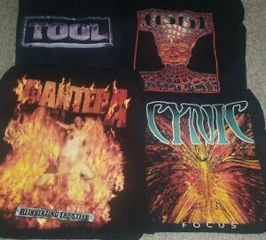 METAL Tour Shirt Lot PANTERA TOOL CYNIC Size M/L Meshuggah Gojira Lamb of God