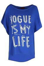 Magliette da donna blu viscosa taglia M