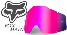 FOX MAIN Pink MIRROR Replacement Goggle LENS MOTOCROSS  tear off bmx mtb MX new