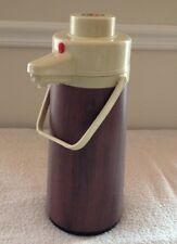 """Vintage Interpur Thermos Woodgrain Hot and Cold Drink Dispenser  15.5"""""""