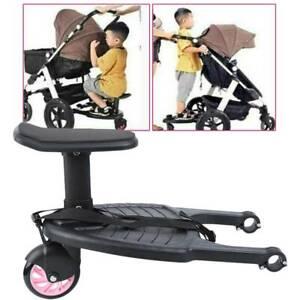 Buggy Board mit Sitz Kiddy Board Trittbrett Für Kinderwagen Rollbrett bis 25KG