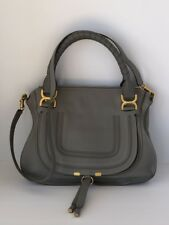 Chloe Women's Marcie Handbag Cashmere Grey Medium Calfskin Leather