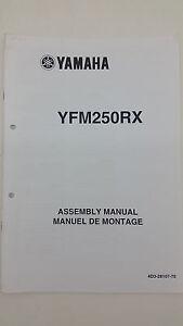 Yamaha Motorbike YFM250RX Factory Assembly Manual. 1st ed., July 2007