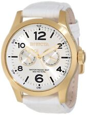 New Invicta Men's 12174 Specialty White Leather Strap Watch