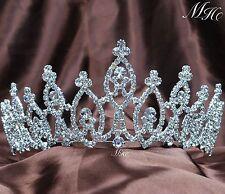 Sparkling Wedding Tiaras Diadem Clear Rhinestone Crowns Girl Headband Prom Party